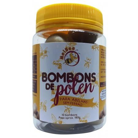 Bombons de Pólen - Para Abelhas sem Ferrão - Pote 10 Bombons - 180 g