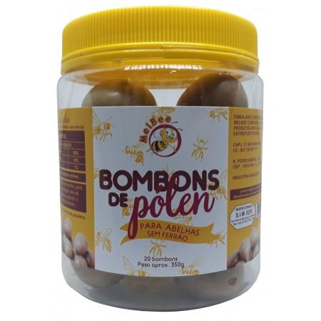 Bombons de Pólen - Para Abelhas sem Ferrão - Pote 20 Bombons - 350 g