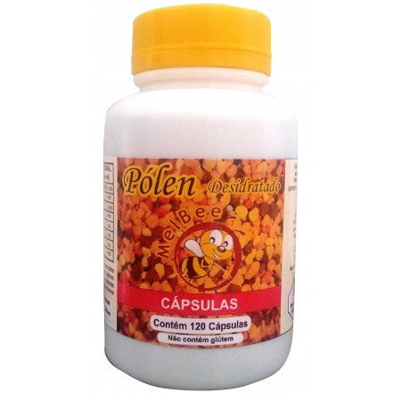 Pólen Apícola Desidratado - 120 Cápsulas