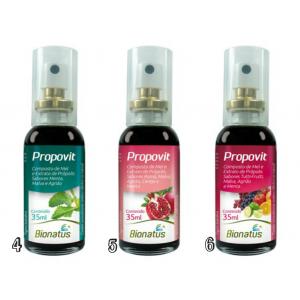 Spray de Mel e Própolis Composto: Vários Sabores - 35ML